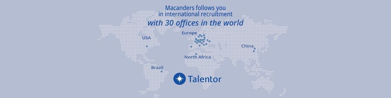 MacAnders cabinet de recrutement partenaire du réseau international de recrutement de cadres